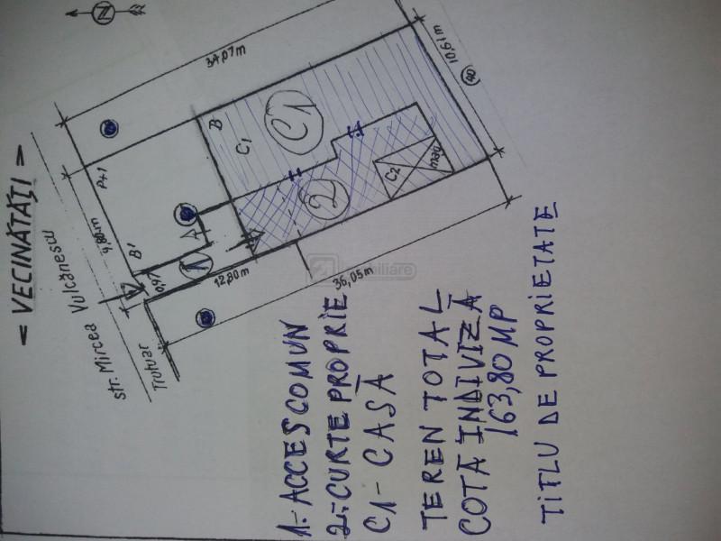 Gara de Nord /P-ta Matache, casa 3 camere, curte proprie, M. Vulcanescu