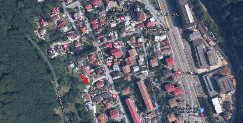 Sinaia - 1 Mai, teren intravilan, suprafata 777 mp, ideal constructie vila