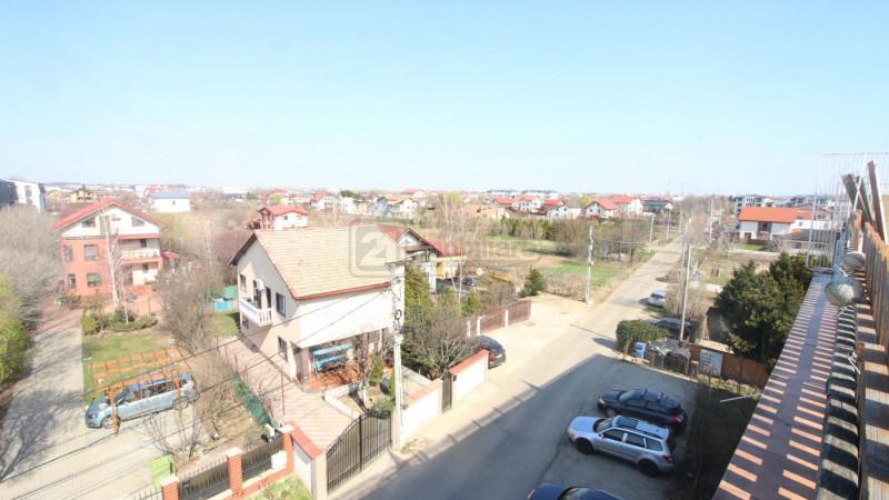 Magurele - Florilor, penthouse 4 camere,130 mp, terasa 77 mp, loc parcare